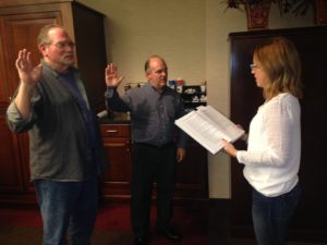Mike and Rick sworn in